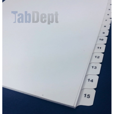 Numbered Tabs - Banks of 15
