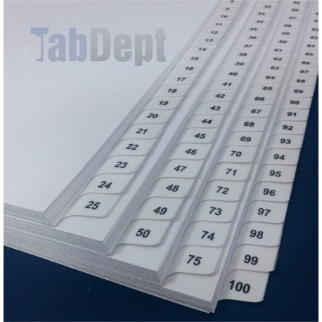 Numbered Tabs - Banks of 25