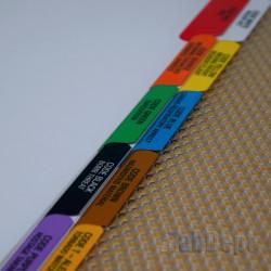 Colour Code Tabs