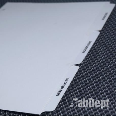 Custom Tabs - Set of 3