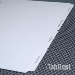 Custom Tabs - Set of 4