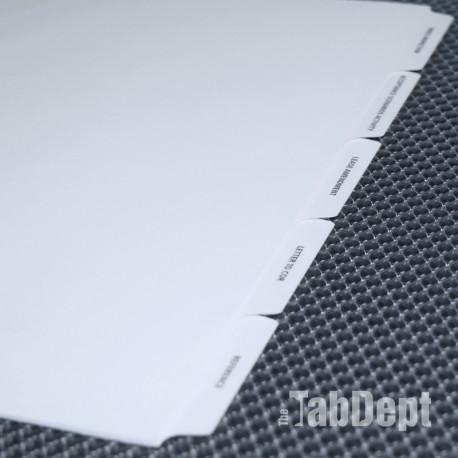 Custom Tabs - Set of 5