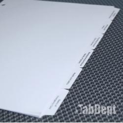 Custom Tabs - Set of 6