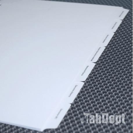 Custom Tabs - Set of 7