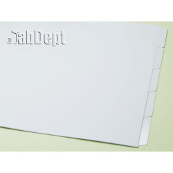 11x17 Set of 5 Index Tab Dividers (Mylar)