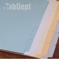 Blue Blank Tabs (No Mylar)