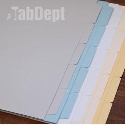 Gray Blank Tabs (No Mylar)