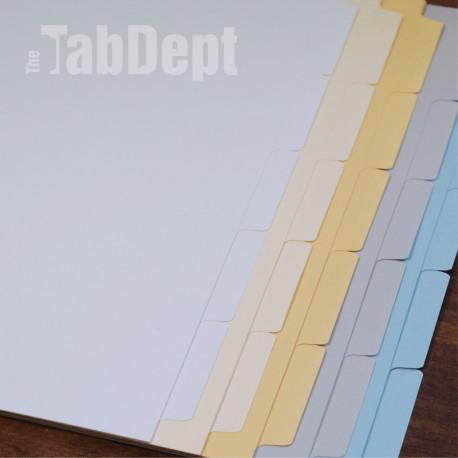 Blank Tabs (No Mylar)