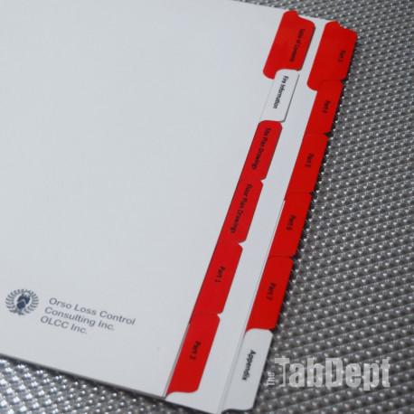 Custom Tabs - Set of 12